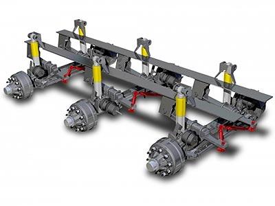 гидравлическая подвеска грузовика